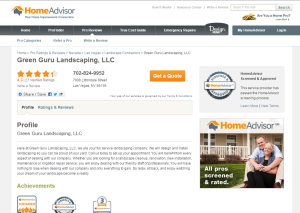 Home Advisor Reviews For Green Guru Landscaping