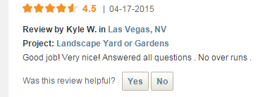 Green Guru Landscaping review from Home Advisor Kyle W